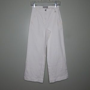 everlane women white wide leg pant SZ 2